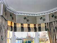 Silk interlined roman blinds.