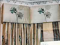 Silk interlined curtains