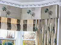 Silk interlined curtains.