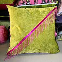 Cushion Cover with contrast beading