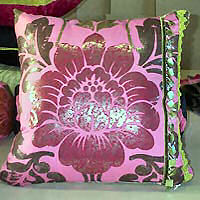 Cushion cover  square with contrast
