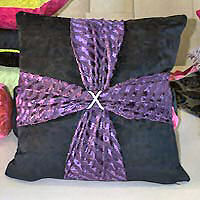 Cushion cover square with contrast cross.